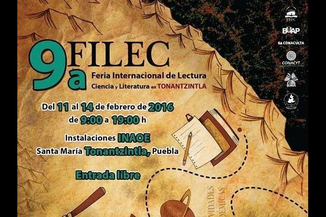 INAOE presenta novena Feria internacional de Lectura