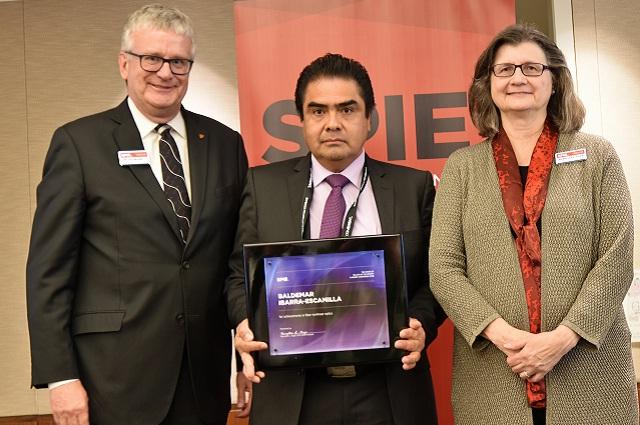 Investigador de INAOE, reconocido por sociedad internacional SPIE
