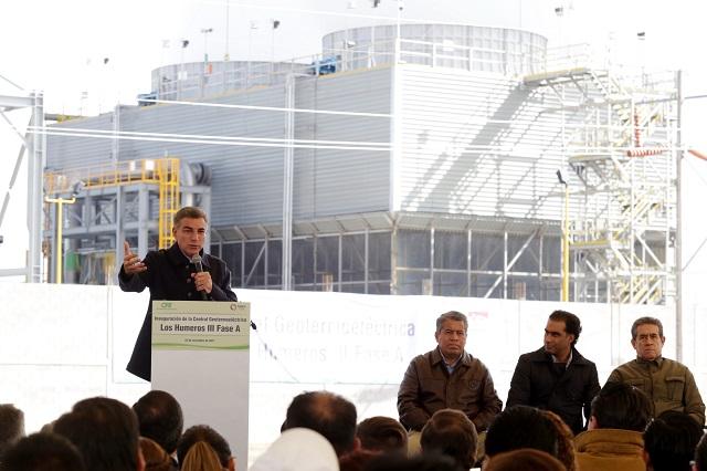 Inauguran Central Geotermoeléctrica en Chignautla