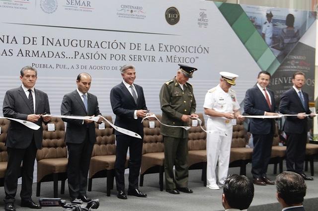 Inauguran  la exposición Fuerzas armadas, pasión por servir a México