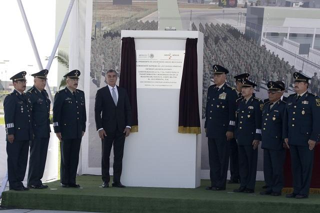 Inauguran en Oriental primera etapa de industria militar