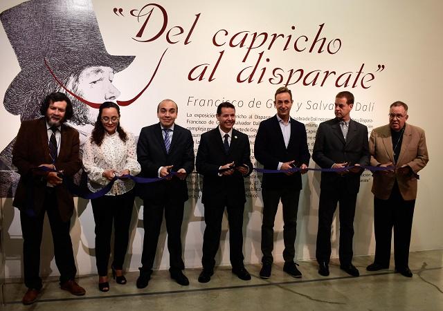 En el CCU BUAP, obra de Francisco de Goya y Salvador Dalí