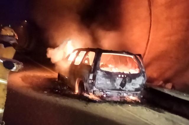 Se incendia vehículo en túnel de la México-Tuxpan