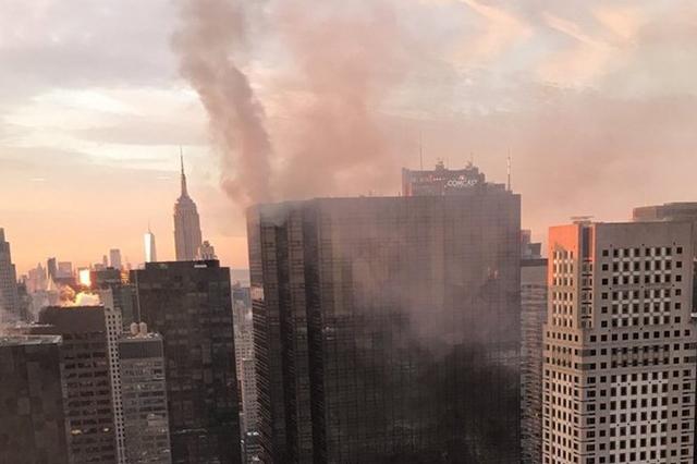 Incendio en la Torre Trump deja un saldo de dos personas heridas