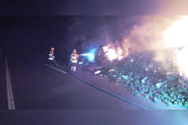 Se incendian 30 toneladas de brócoli en la México – Tuxpan