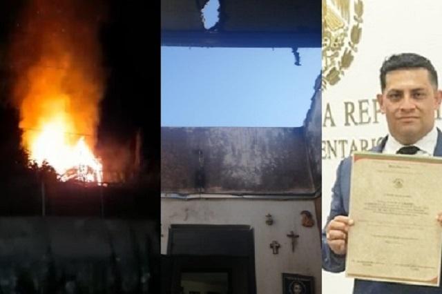 Denuncia el magistrado Fredy Erazo el incendio de su casa