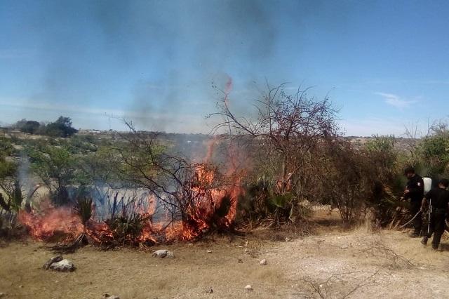 Reportan incendio en Santa Inés Ahuatempan