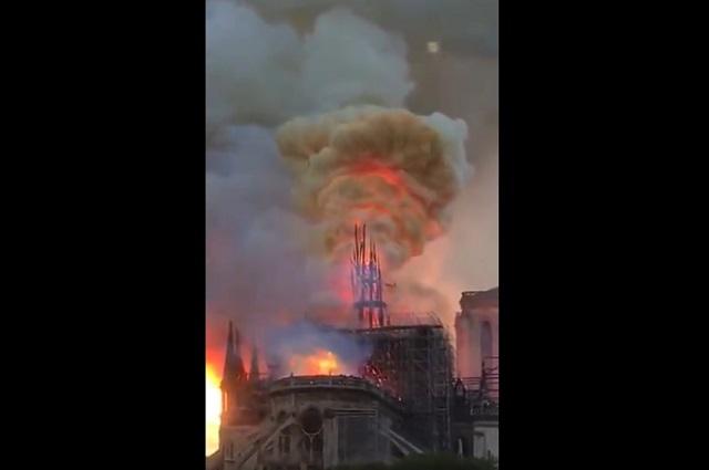 Líderes mundiales lamentan incendio en catedral de Notre Dame