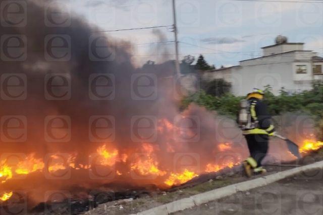 Alarma incendio en talachería de San Francisco Ocotlán