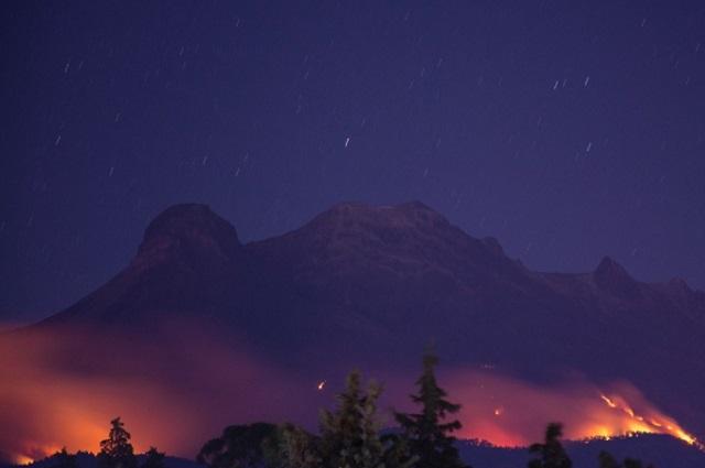 Imágenes: incendio forestal en la Iztaccíhuatl ya fue controlado