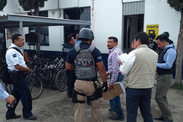 Cateó la Fiscalía oficinas de Seguridad de Texmelucan para sumar indicios