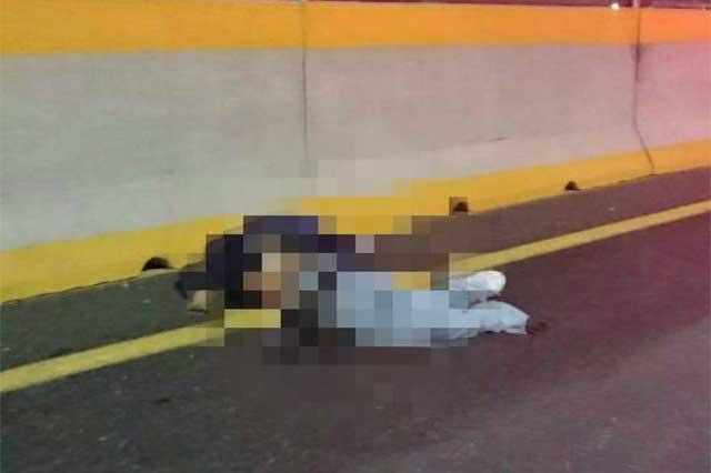 Indigente muere atropellado en el segundo piso de la autopista