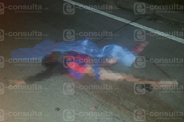 Indigente muere atropellado en la autopista México- Puebla