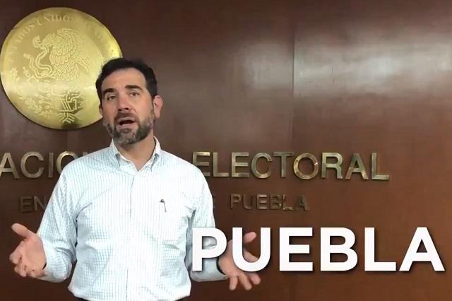 Pide INE legalidad a candidatos y vigilará apoyos sociales en Puebla