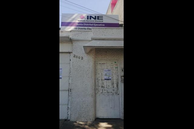 INE cierra los módulos de atención ciudadana en Tehuacán