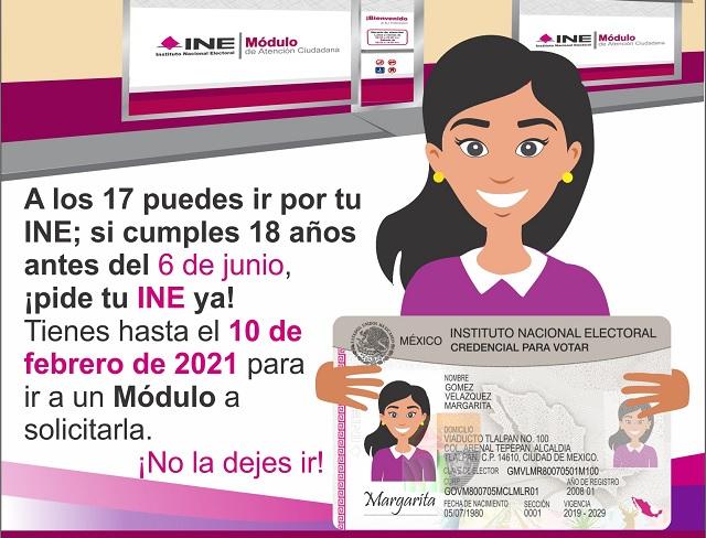 INE alerta a los jóvenes: el 10 de febrero, último día para inscribirse