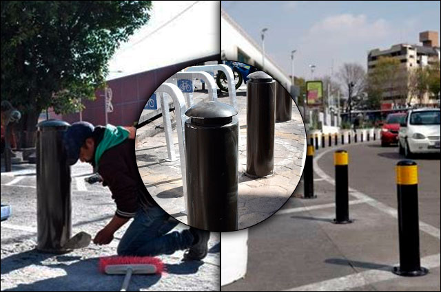 Sin transparentar, otra vez, costo y compra de bolardos en Puebla