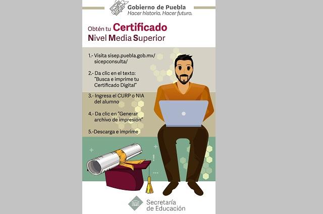 Egresados de preparatoria podrán descargar certificado digital