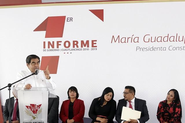 Reporta Barbosa 82 mil pesos en viáticos en medio año