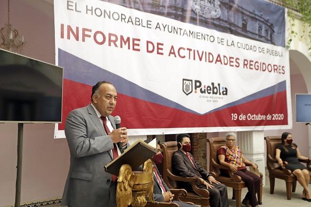 Asiste David Méndez a informe de regidores críticos de Rivera