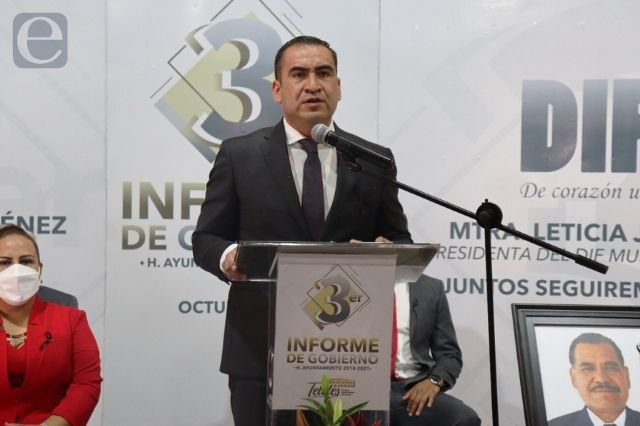 Edil de Tételes, Mario Castro da su tercer informe de gobierno