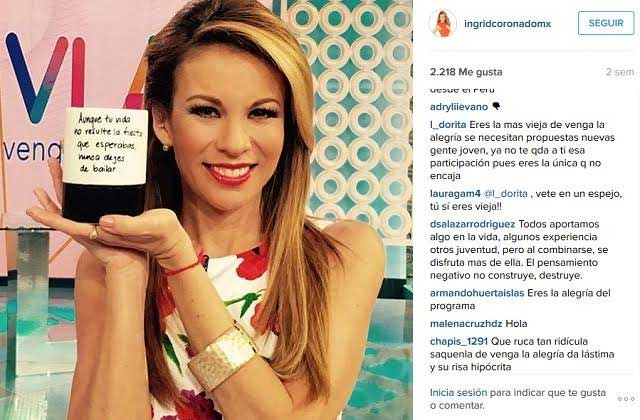 Ingrid Coronado recibe lluvia de críticas y ofensas