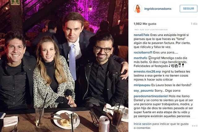 Ingrid Coronado comparte foto donde aparecen Poncho de Anda y Laura Bozzo