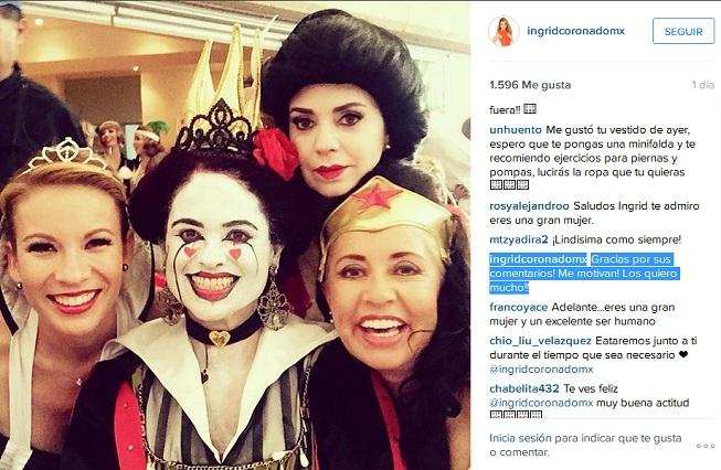 Ingrid Coronado agradece apoyo de internautas que la motivan
