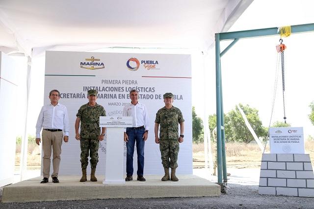 Inician construcción de la infraestructura naval en Puebla