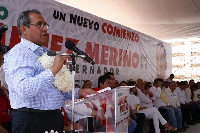 Sin matraca inicia PRI su campaña en Puebla y en el tercer lugar