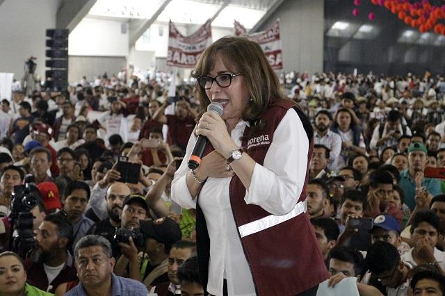 Armenta impugnó candidatura de Barbosa con datos falsos: Yeidckol