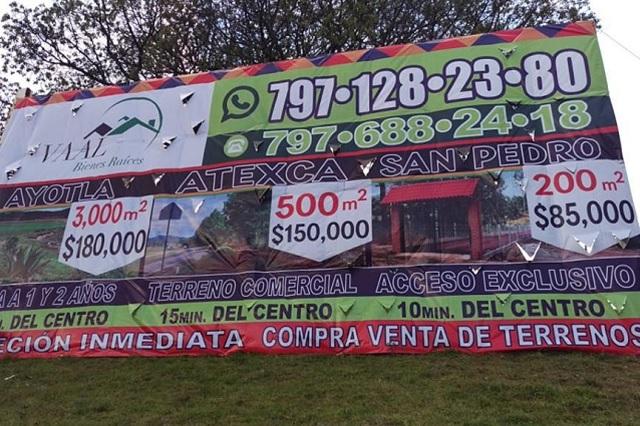 Inmobiliarias rematan la Sierra Norte de Puebla