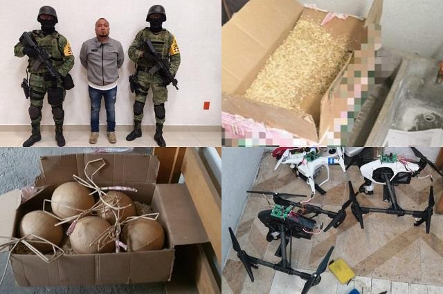 FGR investiga a El Marro por explosivos hallados en Cholula