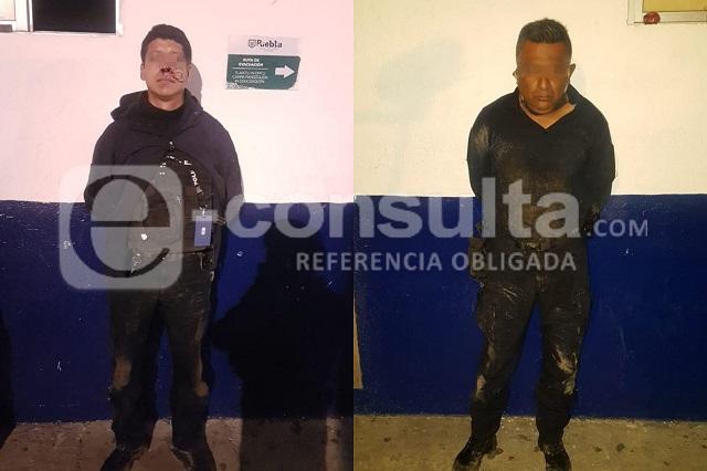 GN detiene a 2 policías estatales por intento de homicidio en Puebla