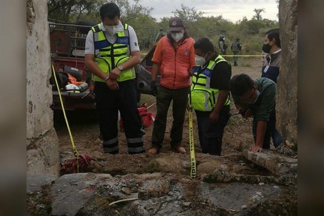 Comisión halla restos humanos en pozo abandonado de  Quecholac