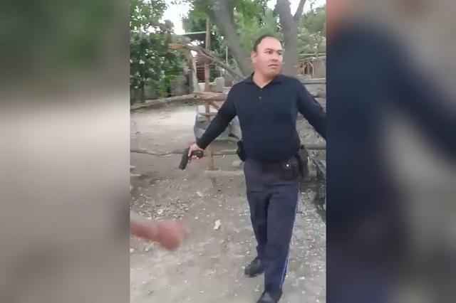Policía de Tecali amedrenta y dispara durante riña de borrachos