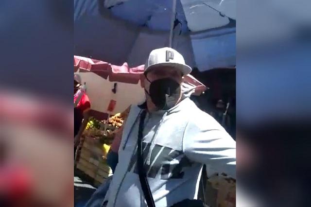 Agentes de la SSP disparan en operativo en Mercado 5 de Mayo