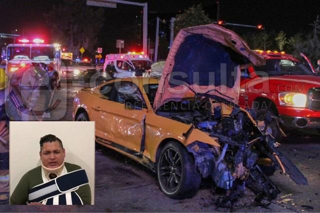 Chofer del Mustang culpa a policías por choque en La Vista