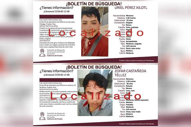 En un día hallan sin vida a dos desaparecidos en Puebla