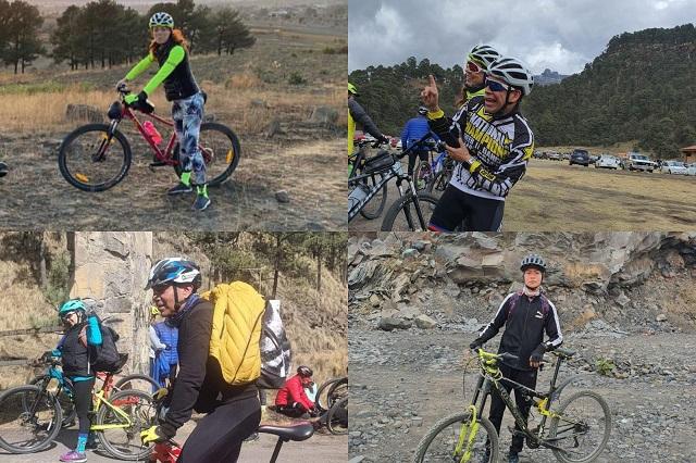Se extravían 8 ciclistas en Huehuetlán El Grande