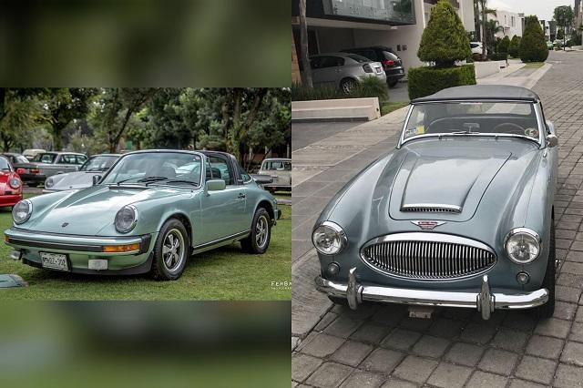 Roban Porsche Targa y Austin Healey de colección en La Paz