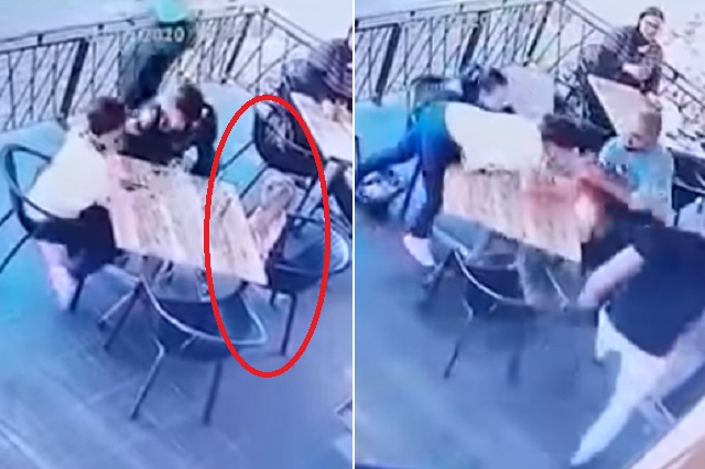 Comensales frustran secuestro de niña al interior de restaurante
