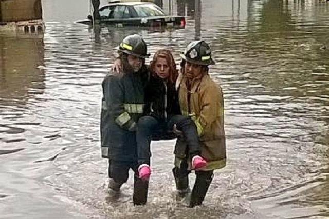 Otra vez se inunda crucero de avenida Nacional y Las Margaritas