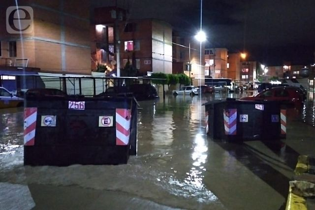 Se desborda dren de Valsequillo en Tehuacán e inunda viviendas
