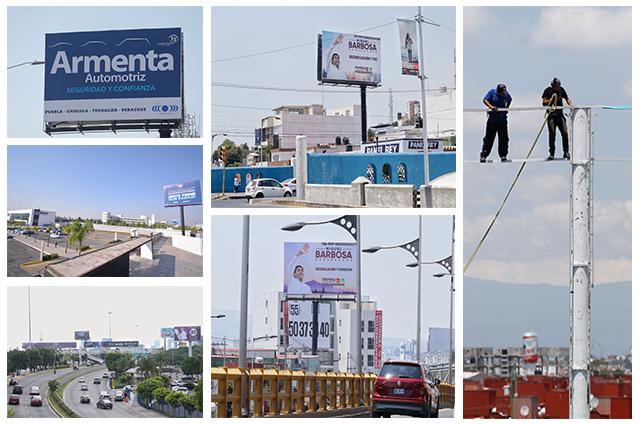 Inundan con 200 espectaculares a Puebla y zona metropolitana