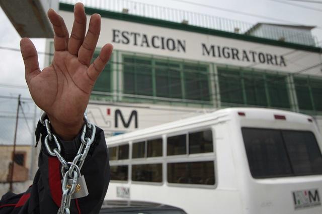 A huelga de hambre se van 70 migrantes en el INM en Puebla
