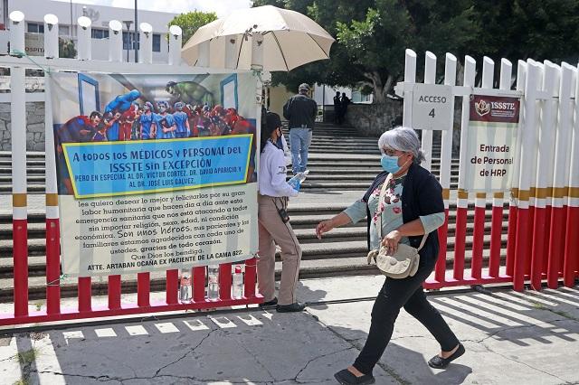 Bajan 16 %  hospitalizados por Covid en Puebla, en una semana