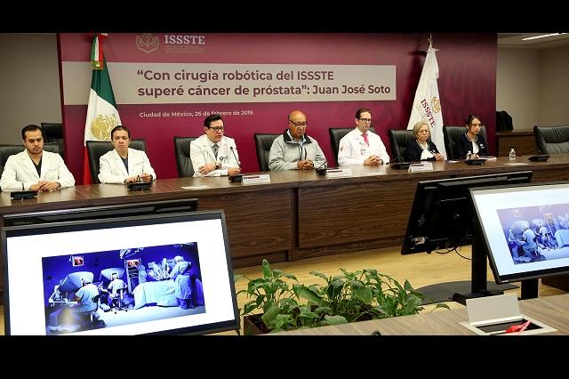 Exitosa cirugía robótica en el Issste salva a paciente con cáncer agresivo