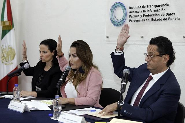 Prevén aumento para instituto de transparencia en Puebla