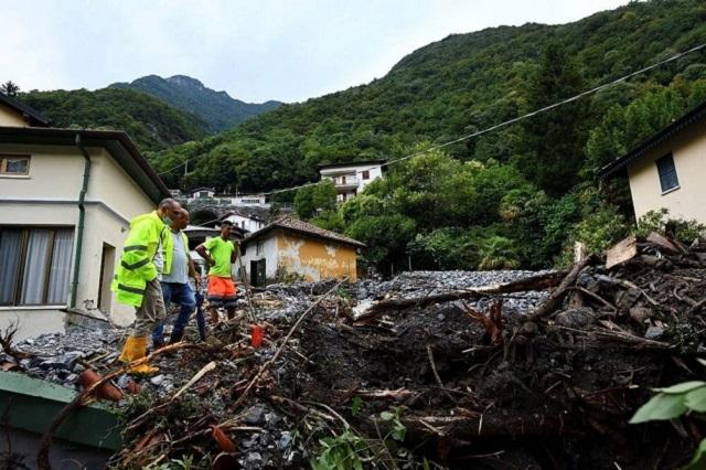 Italia sufre inundaciones y avalanchas por fuertes lluvias